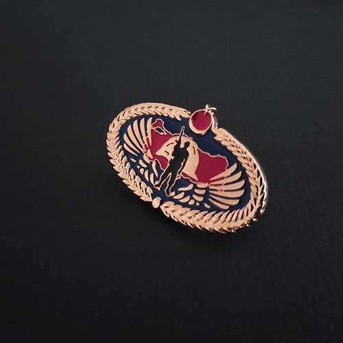 üzerinde kanatlar türkiye haritası ve komando olan rozet