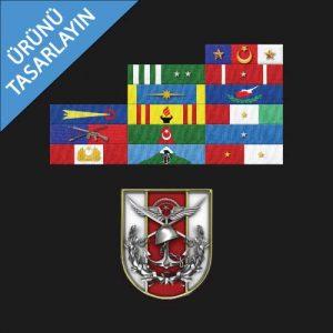 üzerinde şerit rozetler ve genelkurmay başkanlığı logosu bulunan ürün görseli